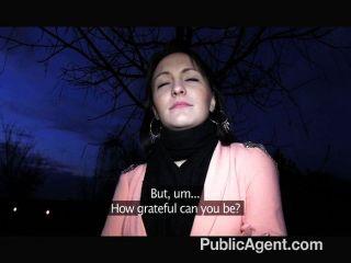 PublicAgent - काले बालों वाली बेब मुश्किल fucks
