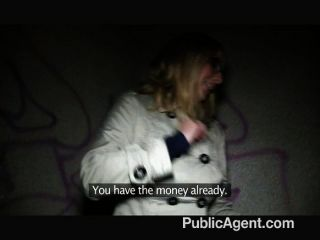 PublicAgent - चश्मा में गोरा बकवास बड़ा मुर्गा