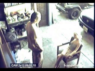 किसी न किसी सेक्स होने प्रेमियों जासूसी कैमरे पर पकड़ा