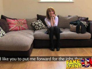 FakeAgentUK - कैमरे पर ब्रिट लड़की पहली गुदा