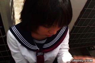 जापानी छात्रा मुर्गा बेकार है बिना सेंसर