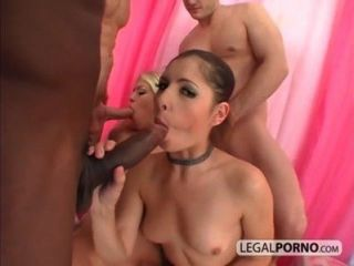 2 लड़कियों विशाल डिक्स के साथ 3 पुरुषों द्वारा बकवास HC-14-02