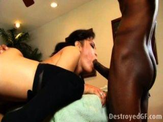 छोटे एशियाई काले लंड द्वारा नष्ट कर दिया महिला