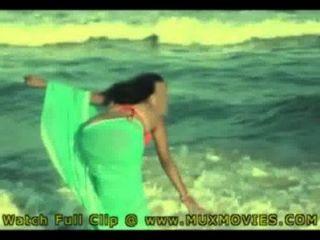 भारतीय गर्म पत्नी जिना समुद्र तट पर गड़बड़