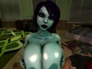 सोरिया titty के लिए उसके बड़े तेल से सना हुआ स्तन का उपयोग करता कमबख्त