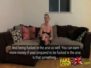 FakeAgentUK गुदा कास्टिंग में गंदी गर्म यूरो लड़की