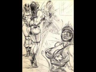 Amazons मिश्रित कुश्ती समलैंगिक कुश्ती कला कॉमिक्स हावी