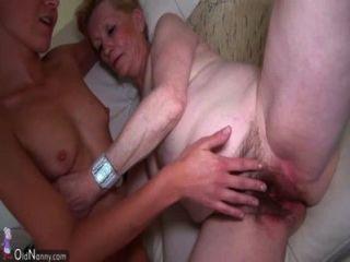 अच्छा जवान औरत और पुराने दादी हस्तमैथुन