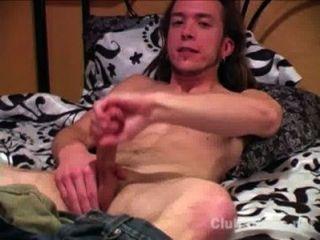 पहलवान सीधे आदमी मैट Masturbating