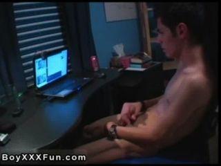 समलैंगिक Twinks जेक अपने जीव विज्ञान के बारे में अंतिम इसलिए जब जोर दिया गया था
