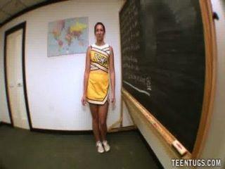 उसके शिक्षक बंद किशोर छात्र झटके