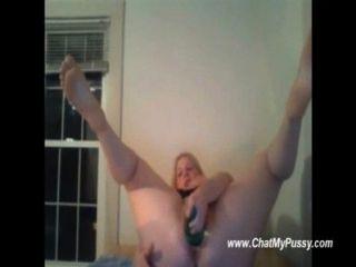 बड़ी बोतलों के साथ fisting बड़े स्तन के साथ camgirl - chatmypussy.com
