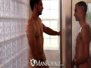 HD - manroyale प्रेमी सेक्स से पहले एक शॉवर का हिस्सा