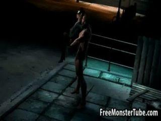 3 डी रही Wolverine द्वारा कठिन गड़बड़ कैटवूमन