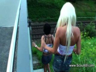 जर्मन और स्विस शौकिया किशोरों beim गुदा Dreier
