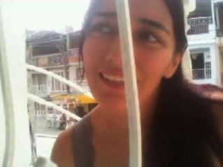 एन सु Balcon बेला Colombiana squirts