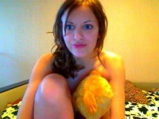 प्यारा webcamgirl बौछार लेता है