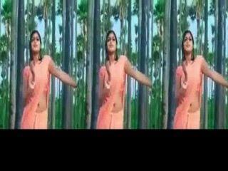केरल महिला मेघना राज - गर्म गधा शेक और गीला साड़ी में नाभि शो