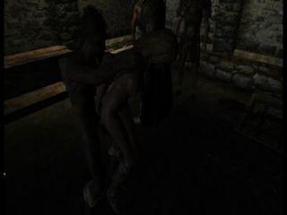 गार्ड शहरवाले नए कैदी के साथ अपने तरीके से करते हैं