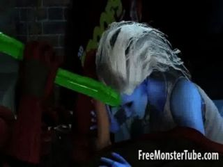 गर्म 3 डी बेब पाला है और डेडपूल द्वारा गड़बड़ हो जाता है