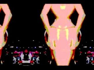 संगीत के साथ गोद नृत्य - साइकेडेलिक मोड