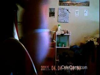अपने आप को पकड़ लिया, जबकि छिपे हुए कैमरे पर ऐलेन जासूसी