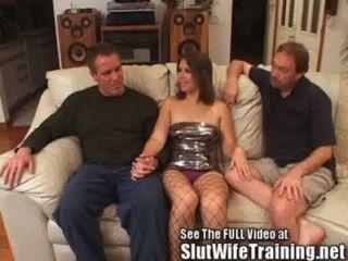 युवा पत्नी पति और गंदा डी द्वारा गड़बड़