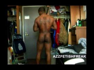 azzfetishfreak - सेक्सी काले आदमी से पता चलता है शरीर, डिक और गधा