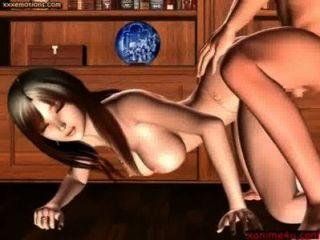 दौर स्तन के साथ भव्य एनिमेटेड रखी जाती है - xanime4u.com