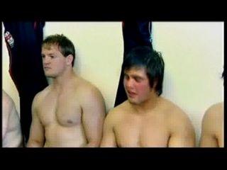 jugadores डी एन examen मीटर रग्बी desnudos