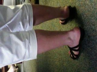 joanns बदबूदार आयरिश सफेद ऊँची एड़ी के जूते और कार्यालय तलवों chunky