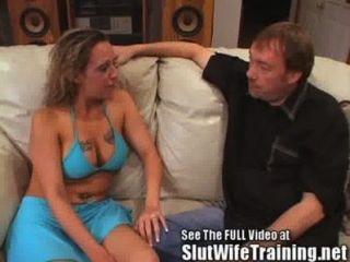 घुंघराले गोरा पत्नी मैला सेकंड देता है