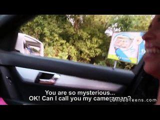 busty रूसी किशोर hitchhiker आउटडोर कमबख्त