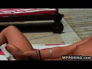 रिले जेनसेन freaky श्यामला आकर्षक उसे छीन के साथ खेलने के लिए प्यार करता है 5