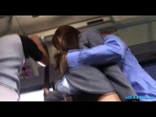 गर्म कार्यालय महिला बस पर बस उसे बिल्ली गड़बड़ creampie हो रही है