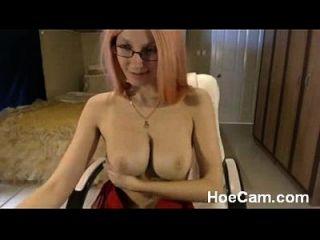 बड़े स्तन गोरा milf में चश्मा वेबकैम तंग