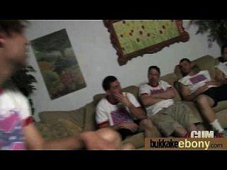 सफेद डिक्स 9 के एक समूह के साथ पहली बार आबनूस