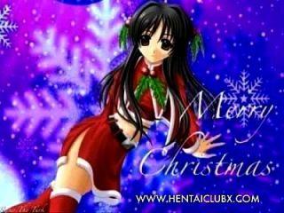 सेक्सी एनीमे लड़की क्रिसमस सेक्सी