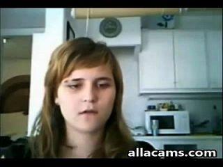 बेटी और उसकी माँ वेबकैम फ़्लैश पर