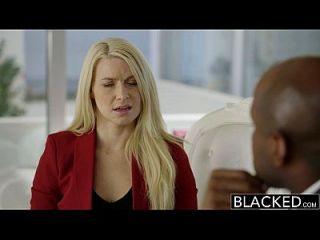 ब्लैक व्यवसायी सुनहरे बालों वाली Anikka albrite गधा एक बीबीसी द्वारा गड़बड़