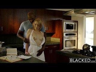 काला ब्लोंड दाई trillium उसे काला मालिक fucks