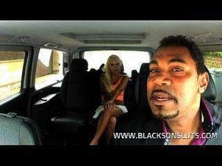 काले टैक्सी चालक जर्मन फूहड़ fucks