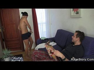 शॉवर के बाद क्रूर blowjob और किसी न किसी सेक्स