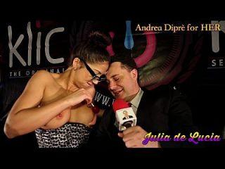 जूलिया डी ल्यूसिया ने एंड्रिया डिपर के लिए उसकी योनि में एक लॉलीपॉप डाल दिया