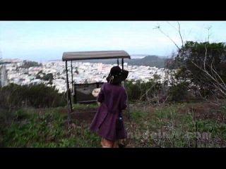 सैन फ्रांसिस्को में नग्न: रोज़लिन्द हस्तमैथुन और सार्वजनिक में खिलौने