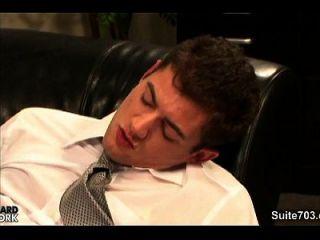 काम पर कार्यालय में पीटने गर्म समलैंगिकों