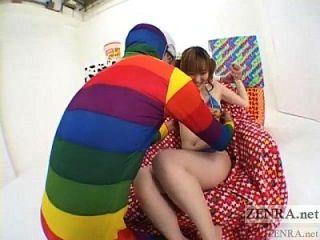 पीला जापानी एवी स्टार अजीब थरथानेवाला त्रिगुट सबटाइटल