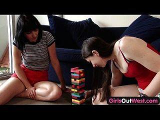 लड़कियों के बाहर पश्चिम पीला शौकिया समलैंगिकों भयानक rimjobs दे