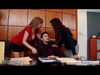 milf कार्यालय लड़कियां डारला क्रेन और सिरेन डे मेयर शेयर डिक