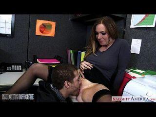 Busty कार्यालय बेब झगड़ा बैनिस्ट कमबख्त